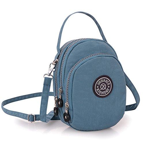 nylon capas para bandolera de tres móvil tianhengyi mano adolescentes resistente de de bolso agua bolso mano pequeño Funda Azul al bolso UxFn46B