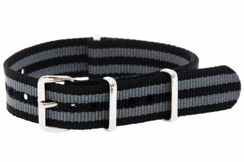 16mm Double Stripe Nylon Nato Band Military Watch Strap G10
