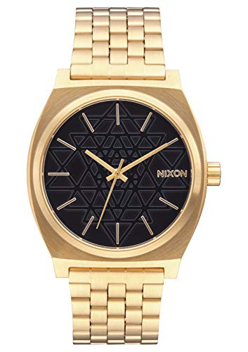 Nixon Time Teller A0452478-00. Gold and Black Women's Watch (37mm. Gold Metal Band/ Black Stamped Watch Face) from NIXON
