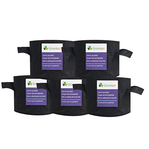 growsun-7-gallon-5-pack-black-aeration-fabric-grow-bags-for-plant-pots-container-with-handles