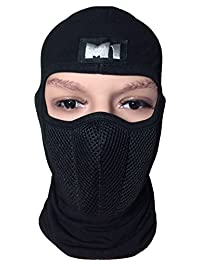 M1 Full Face Cover Balaclava Protecting Filter Face Mask Black (BALA-FILT-BLCK)