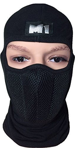 M1 Full Face Cover Balaclava Protecting Filter Face Mask Black -