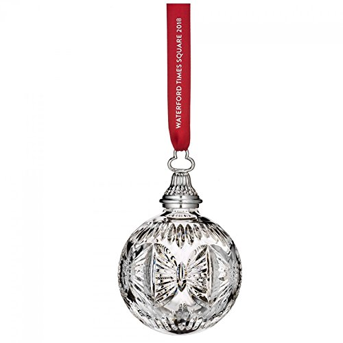 Waterford Crystal 2018 Times Square Gift of Serenity Ball Christmas Ornament