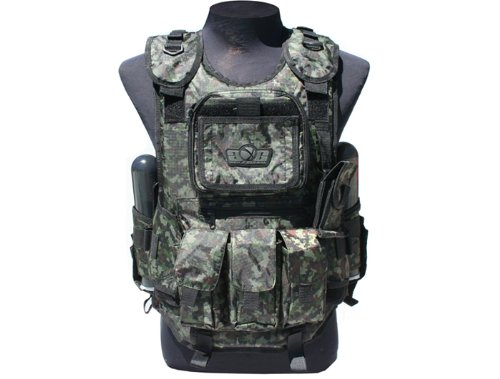 Deluxe Shooting Vest - GxG Deluxe Tactical Paintball Vests (Digi Green)