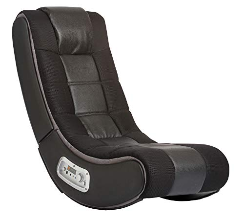 Ace Bayou X Rocker 2.1 Sound V Rocker SE Wireless Foldable Video Gaming Floor Chair with 2 Speakers and Subwoofer – Black, 5130301