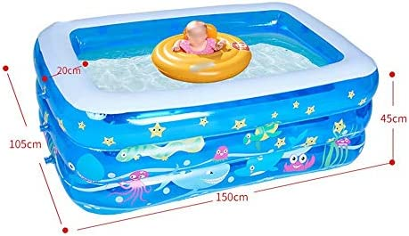 Piscina Hinchable Rectangular para niños, de Interior y al Aire ...