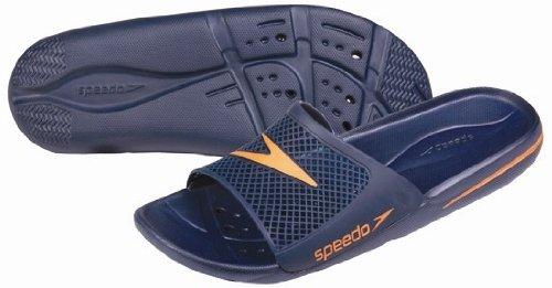 Speedo Deportes de Agua Piscina Atami Zapatos Antideslizante Ducha Zapatos flip flop Sandal, azul marino azul marino