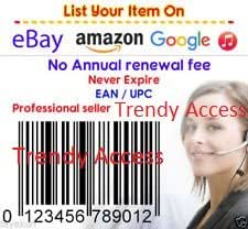 Barcode and UPC code UPC codes certified by amazon upc codes for sale EAN Numbers GS1 Barcodes for Amazon eBay ( 1000 UPC EAN Barcode Numbers)