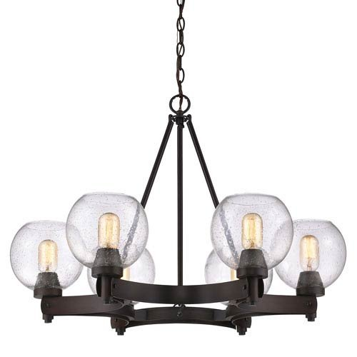 Golden Lighting 4855-6 RBZ-SD Six Light Chandelier Bronze