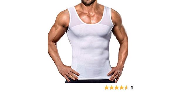 LaLaAreal Hombres adelgazantes Body Shaper Chaleco Camisa ...