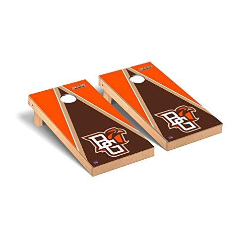 Victory Tailgate Regulation Collegiate NCAA Triangle Series Cornhole Board Set - 2 Boards, 8 Bags - Bowling Green State (Best Victory Tailgate Bowling Bags)