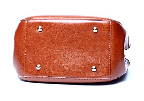 Xinmaoyuan Mujer bolsos de cuero Bolsos de cuero Bolsos de cuero verano cross portátil Retro Bolso Bolso Messenger Brown