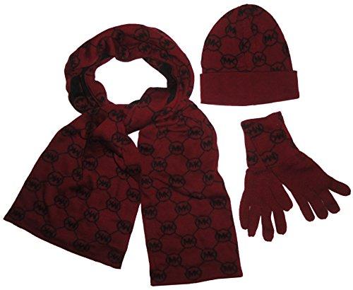 michael-kors-womens-3-piece-scarf-hat-and-gloves-set-merlot-black