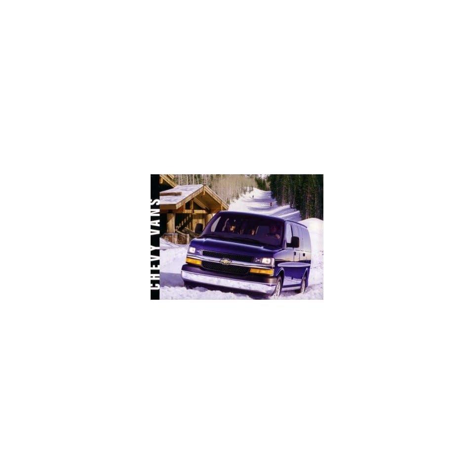 2003 Chevrolet Van Sales Brochure Literature Book Piece Advertisement Options
