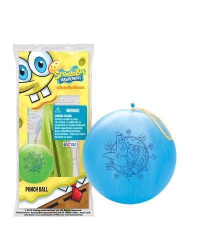 Pioneer National Latex Sponge Bob Square Pants Punch Balls, Set of -