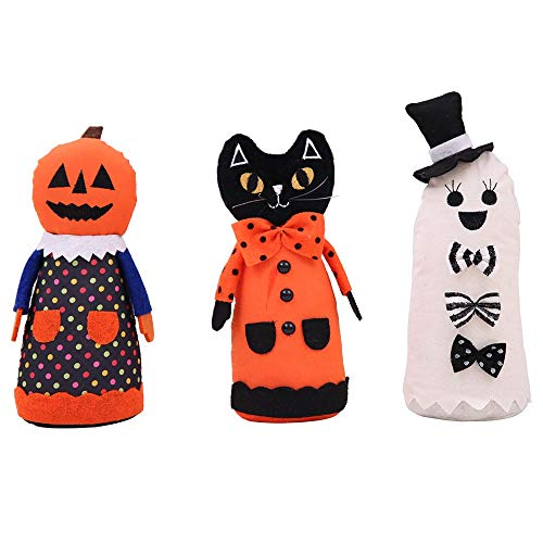 HORHIN Halloween Home Decoration,3PCS Doll Stuffed Toys Props Ornaments for Halloween Trick or Treat Party Office Yard Playground Hotel Supermarket Bar Atmosphere Decor by HORHIN