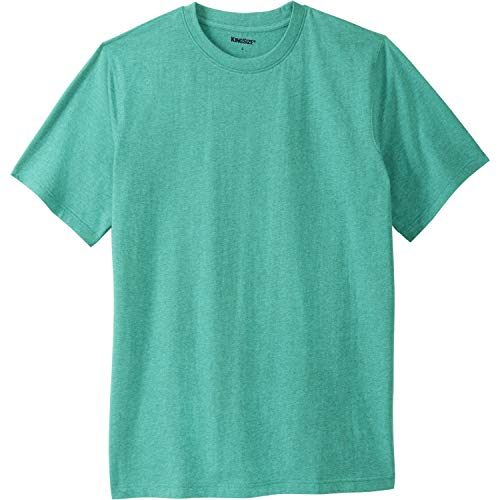 KingSize Men's Big & Tall Lightweight Crewneck T-Shirt, Tidal Green Heather (Tall Mens Crewneck T-shirts)
