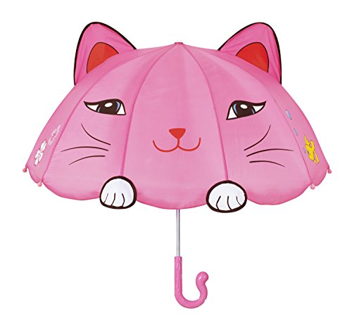 Kidorable Girls' Lucky Cat Umbrella, Pink ()