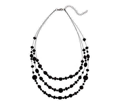 Erica Lyons Black Short Illusion Necklace