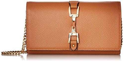 Gigi Leather Wallet, Saddle, One Size