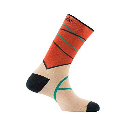 Sneaker Coton Chaussettes Imprimées En Beige Achile ESqxwFp1
