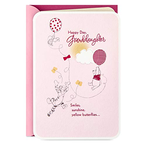 Hallmark Winnie The Pooh Birthday Card for Granddaughter (Beautiful Birthday)