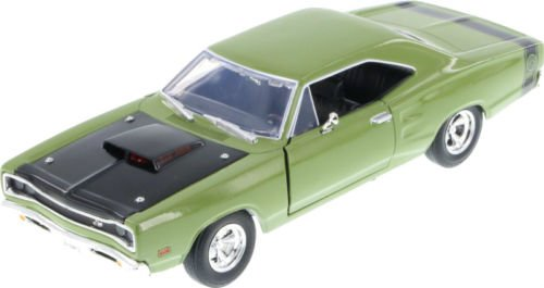 [New 1:24 W/B MOTOR MAX AMERICAN CLASSICS COLLECTION - GREEN 1969 DODGE CORONET SUPER BEE Diecast Model Car By MOTOR MAX] (1969 Dodge Coronet Super Bee)