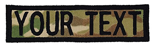 Custom Morale Name Tapes with Border, Personalized Text 1 inch x 4 inches Patch ()