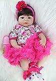 XuBa 55cm Full Silicone Body Reborn Baby Doll Toy Realistic Newborn Princess Girls Babies Doll Kid Brinquedos Bathe Toy