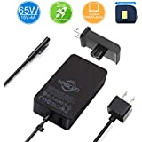 Surface Laptop Surface Pro Charger,Power Supply Adapte 65W 15V 4A Microsoft Surface Laptop/Laptop 2 Surface Book/Book 2 Surface Pro 4 Pro 3 Pro 6 Surface Pro 2017 Surface Go 6Ft Power Cord