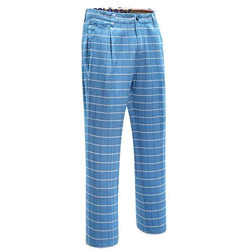 クリアランスポロゴルフアパレルメンズズボンのスポーツのズボンチェック柄のズボンのゴルフパンツ   B07S3HPNK1