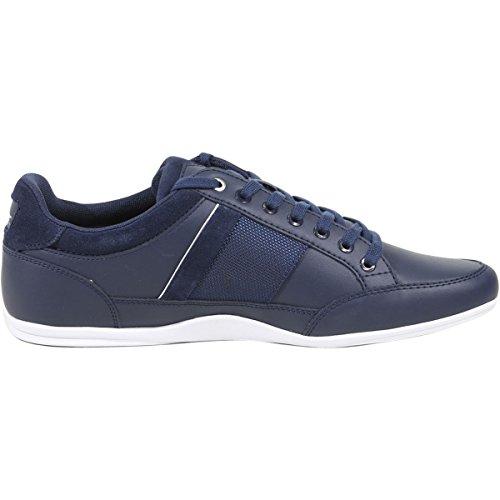 Lacoste Mens Chaymon 118 1 U Sneaker Blu / Argento