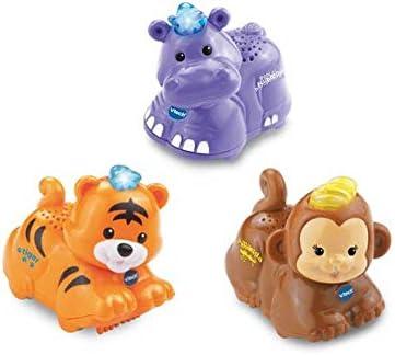 VTech Toot Toot Set of 3 Animals - Tiger, Hippo, Monkey.