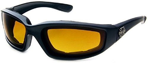 Choppers Foam Padded Yellow Lens Motorcycle - Sunglasses In Of Sons Anarchy