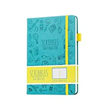 Scribbles That Matter - Dotted Journal Notebook Diary A5 - Elastic Band - Beautiful Designer Cover - Premium Thick Paper (Teal)