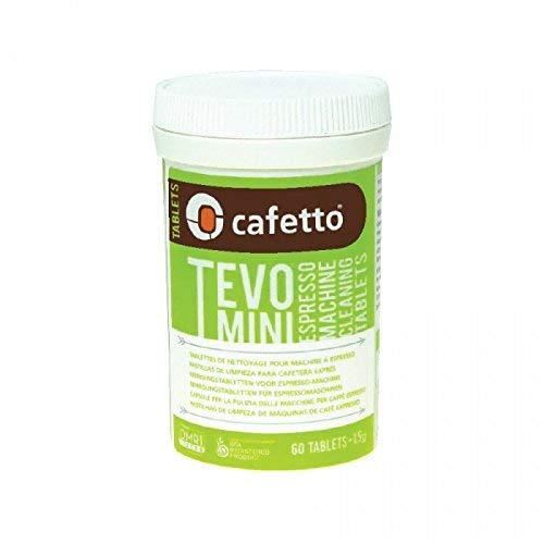 Cafetto TEVO MINI High Performance Espresso Machine Cleaning Tablets, (60 Count Tablets Jar)