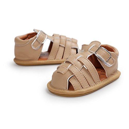 BOBORA Bebe Ninos Ninas Verano Zapatos Ninos Sandalias Trenzada Hueca caqui