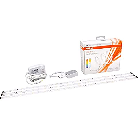 SYLVANIA Smart+ LED Connected Flex Light Strip, Tunable Warm White to Daylight and RGBW Color 2700K - 6500K, 73661 (Formerly Lightify), Works with Amazon (Sylvania 2700k Led)