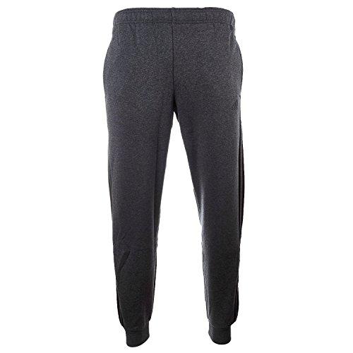 adidas Men's Essentials 3-Stripe Jogger Pants, Dark Grey Hea