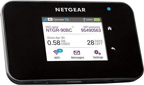 NETGEAR WiFi Portatil 4G AC810, Velocidad hasta 600 Mbps, Conecta hasta 15 Dispositivos WiFi, funciona con cualquier SIM