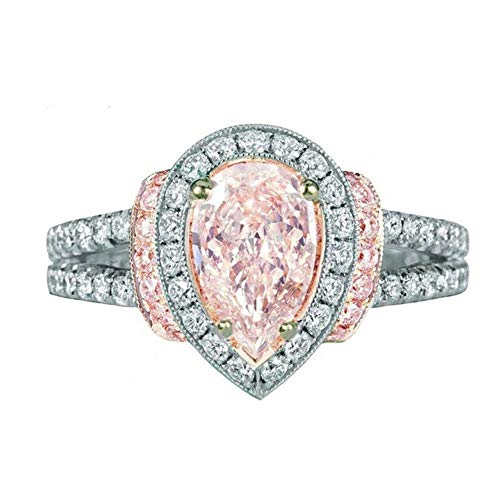 Respctful (●˙▾˙●) Women's Fashion Design Crystal Ring Mixing Color Ring Jewelry Temperament Accessories ()