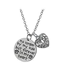 She Believed She Could So She Did Women Girl Filigree Heart Pendant Necklace