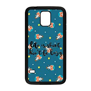 Don't Be Lazy Image On Back Phone Case For Samsung Galaxy S5