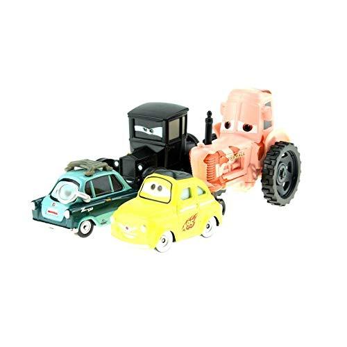 Disney Disney Pixar Cars Cartoon Cars Lizzie Tractor Luigi Guido 1:55 Diecast Metal Alloy Cars Model Year Gift for Childrens 4pcs lot