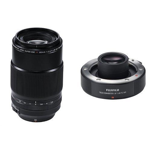 Fujinon XF80mmF2.8 R LM OIS WR Lens and XF1.4X TC WR