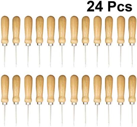 Healifty Punzón de Coser de Cuero Punzonado Conjunto de Punzón Punzón de Arañazo de Fid con Mango de Madera para Herramienta de Reparación de Calzado Artesanal de Cuero Diy: Amazon.es: Hogar