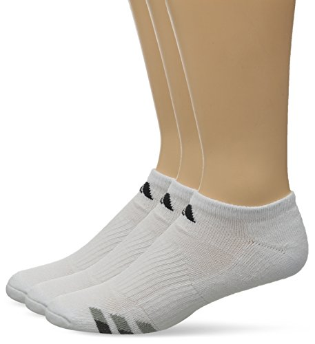 adidas Men's Cushion No Show Socks (Pack of 3), White/Black/Granite/Light Onix, One (Adidas White No Show Socks)