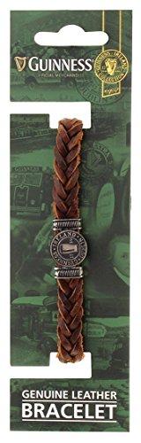 Guinness Genuine Leather Pint Bracelet (Brown)