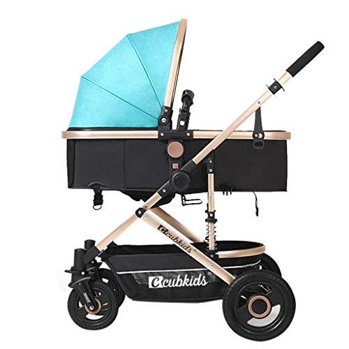 Zsail High Landscape Lightweight Baby Stroller 4 Wheel Damping Adjustable Pram Travel System Carriage Infant Pushchair Multicolor (Color : K)