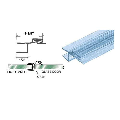 """CRL Polycarbonate Strike and Door """"h"""" Jamb with Vinyl Insert for 180 Degree for 3/8"""" Glass - 98 in long"""